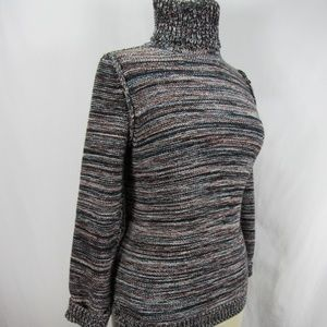 525 America Turtleneck Knit Cowl Sweater S